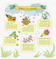 springtime infographic vector image vector image