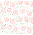 tender floral pattern with light pink flowers vector image vector image