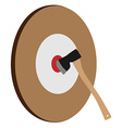 Throwing axe target vector image vector image