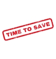 time to save rubber stamp vector image vector image