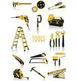 tools silhouettes vector image vector image