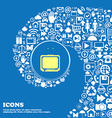 TV sign icon Nice set of beautiful icons twisted vector image vector image