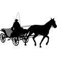 vintage carriage silhouette 2 vector image vector image