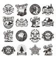 vintage wild west emblems vector image vector image