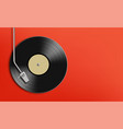 vinyl record disc music background with copy space vector image