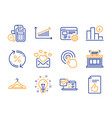 web settings idea and love mail icons set shop