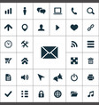 web ui icons universal set for web vector image