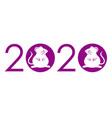 year 2020 - year rats - logo vector image