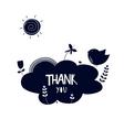 air cloud sticker vector image