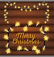 merry christams card with lights vector image