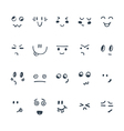 Sketched facial expressions set Set of hand drawn vector image