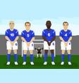 defensive soccer wall free kick vector image