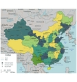 China map with selectable territories vector image