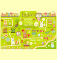 36 easter map vector image