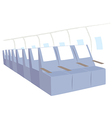 Airplane Seats Background vector image