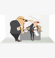 angry boss and employee vector image