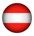 Austria flag button vector image vector image