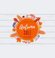 autumn sale banner discount september shopping vector image vector image