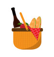 basket picnic icon vector image vector image