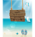 beach sign vector image