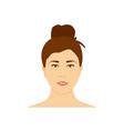 beautiful teenage girl woman avatar brunette vector image vector image