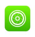 big objective icon digital green vector image vector image