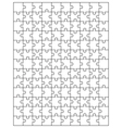 big white puzzle vector image vector image