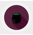 Black witches pot with potion vector image