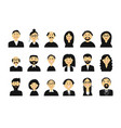 business people set of simple icons for ypur vector image vector image