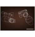 camera on brown vector image vector image