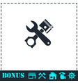 car service icon flat vector image