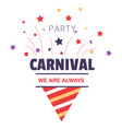 carnival party isolated icon birthday cone hat vector image