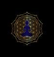 chakra concept lotus position gold yantra mandala vector image vector image