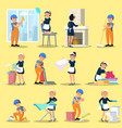 cleaning company icons collection vector image vector image
