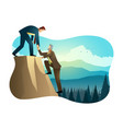 climbing to top rock vector image vector image