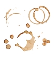 Coffee Stain Rings Set Isolated On White vector image