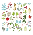 collection of winter Merry Christmas And vector image vector image