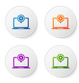color laptop and gear icon isolated on white vector image vector image