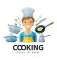 cook chef logo design template cooking or vector image vector image