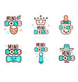 Cute kawaii emoticons with baboy objects