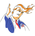 Donald Trump caricature vector image
