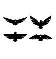 eagle a set of monochrome logos vector image
