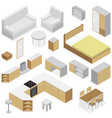 furniture elements for home interior vector image vector image