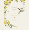 garland with flowers and a bird vector image