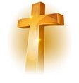 gold christian cross vector image vector image