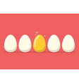 Golden egg among the usual vector image vector image