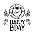 happy lion baby birthday cartoon clip art vector image