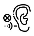 hearing impairment icon outline vector image vector image