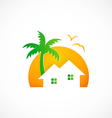 home cottage nature abstract logo vector image vector image