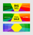 horizontal banners big sale and final sale vector image vector image